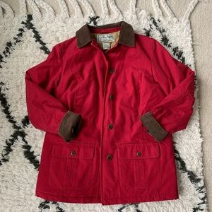 LL Bean Women's barn jacket field coat Adirondack